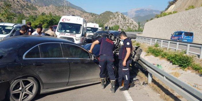 Amasya'da feci kaza: 4 yaralı