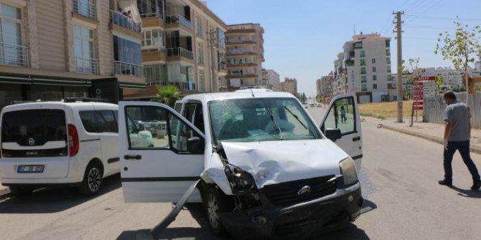 Polis aracı kaza yaptı: 2 polis yaralı