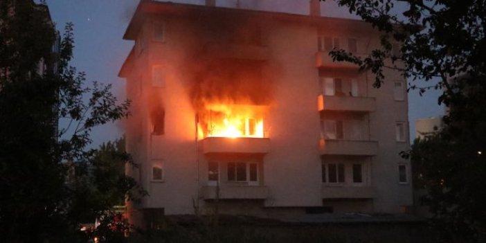 Bolu'da çıkan ev yangınında faciadan dönüldü