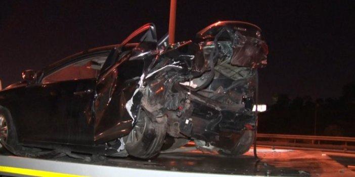 İstanbul Başakşehir'de zincirleme kaza! 4 araç birbirine girdi