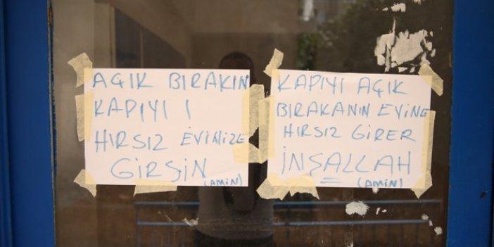 Bir yurdum insanı haberi, Apartman sakinlerinden bunaldı kapıya bunu yazdı