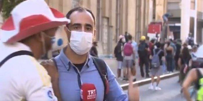 TRT muhabiri neye uğradığını şaşırdı: Canlı Yayında öpücük şoku!