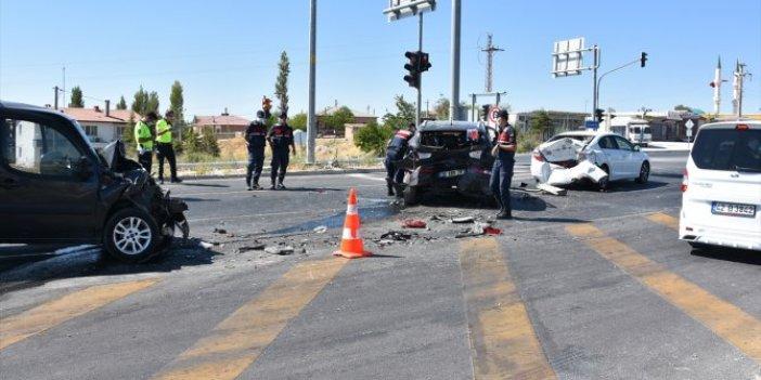 Aksaray'da zincirleme kaza: 3 yaralı