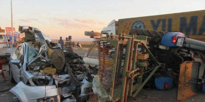 Afyon'da zincirleme kaza! Ortalık savaş alanına döndü