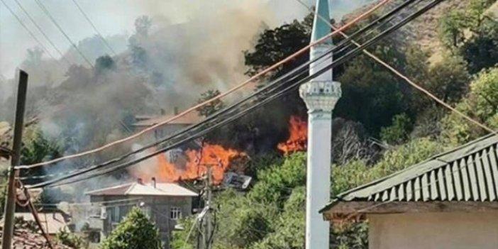 Amasya'da 4 ev kül oldu