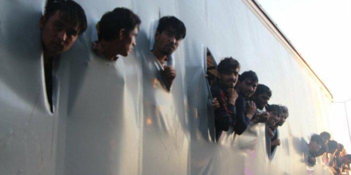 Samsun'da bir TIR dolusu göçmen yakalandı