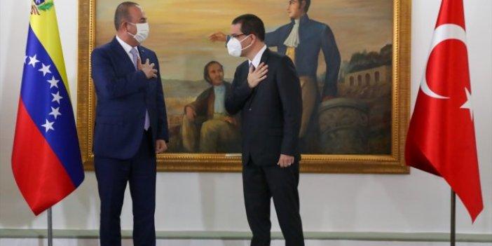 Bakan Çavuşoğlu Venezüela'da