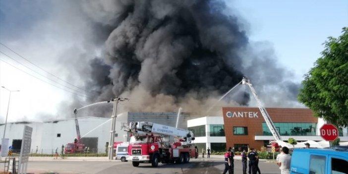 Elektrik kontağı fabrikayı cayır cayır yaktı