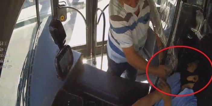 Maske uyarısı yapan şoföre yumruk! Hem de otobüs hareket halindeyken...