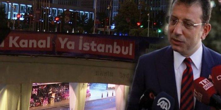 İBB'nin 'Ya Kanal Ya İstanbul' afişleri söküldü: Ekrem İmamoğlu'ndan İstanbul Valiliği'ne sert tepki geldi