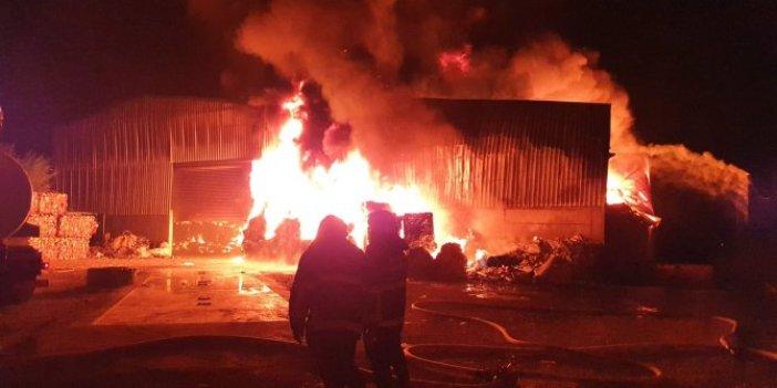 Adana'da geri dönüşüm fabrikasında yangın!