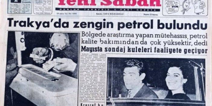 1957 yılının gazete arşivlerinden çıktı: Siyasi tarihimizin en eski 'müjde'si