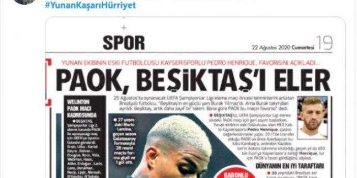 Beşiktaş taraftarı sosyal medyadan kampanya başlattı, Hürriyet gazetesinin başlığı ortalığı karıştırdı