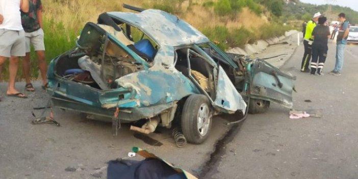 Muğla'da lastiği patlayan otomobil takla attı! 3 ölü