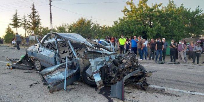 Aksaray'da otomobil ile çekici çarpıştı! Ölü ve yaralı var