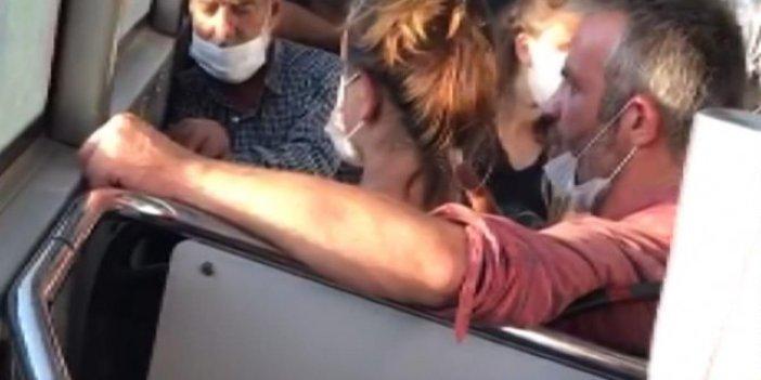 Otobüste kadına Osmanlı tokadı