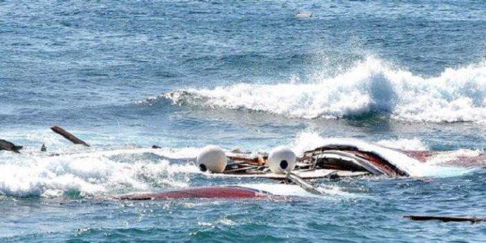 Herke Adası açıklarında bot battı!