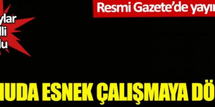 Kamuda esnek çalışmaya dönüş! Resmi Gazete'de yayımlandı! Detaylar belli oldu