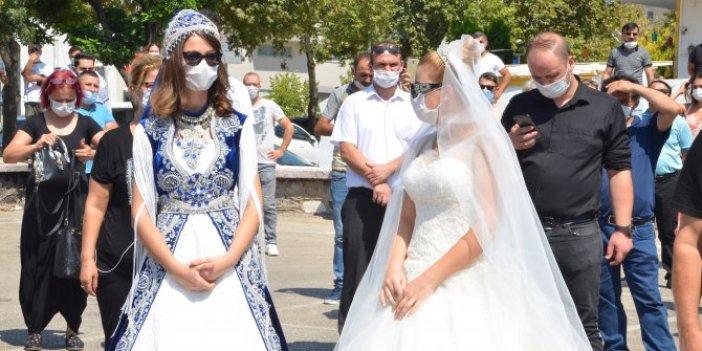 Gelinlerden düğün protestosu