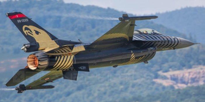 F-16 savaş uçağımız korku saçtı!