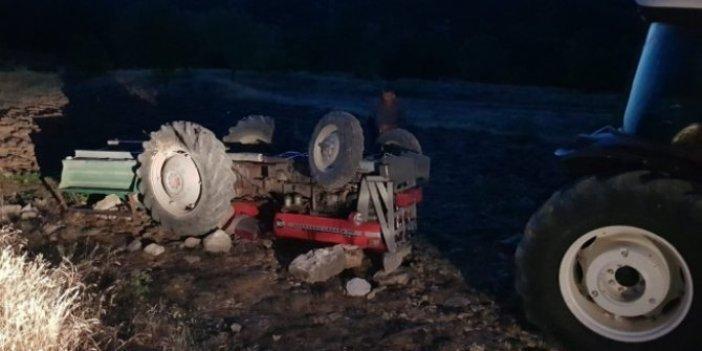 Çankırı'da feci kaza! Devrilen traktörde 1 kişi öldü