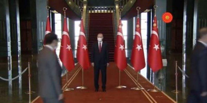 Cumhurbaşkanı Erdoğan, tebrikleri kabul ediyor