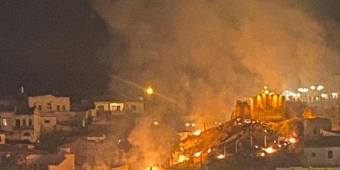 Nevşehir'de havai fişek gösterisi yangın çıkardı