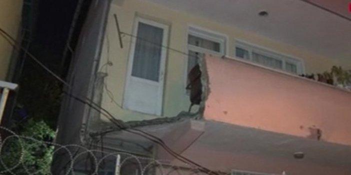 Evin balkonu çöktü! 1 kız çocuğu yaralı
