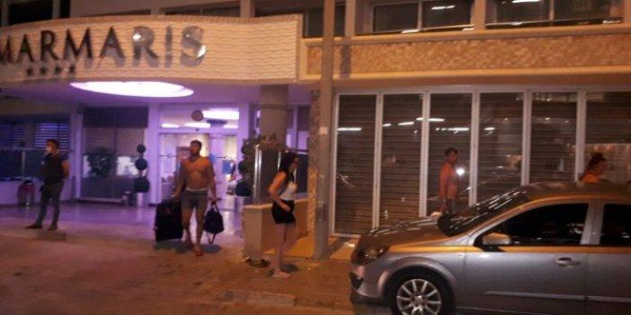 Marmaris'te 4 yıldızlı otele baskın! Otel mühürlendi turistler başka otele yerleştirildi