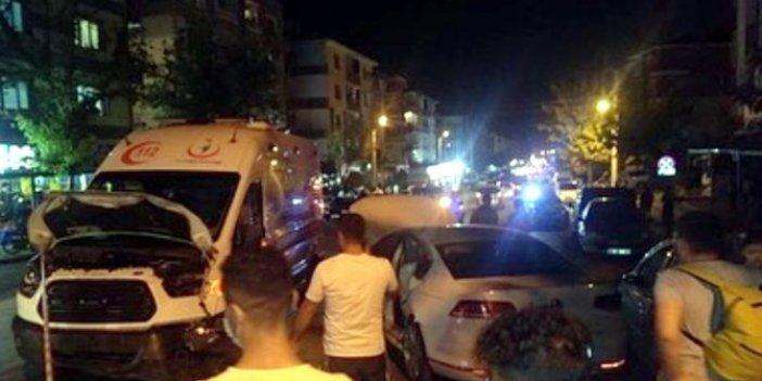 Ankara'da zincirleme kazaya ambulansta karıştı! 3 sağlık görevlisi yaralandı