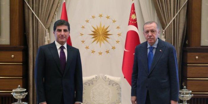 Cumhurbaşkanı Erdoğan Neçirvan Barzani'yi kabul etti