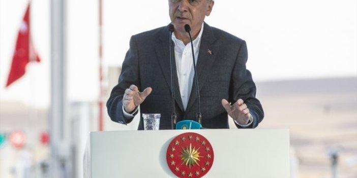Erdoğan otoyol açılışında konuştu