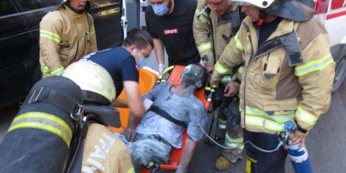 Yaşlı adamı diri diri yanmaktan kurtardı! Kahraman itfaiyeci