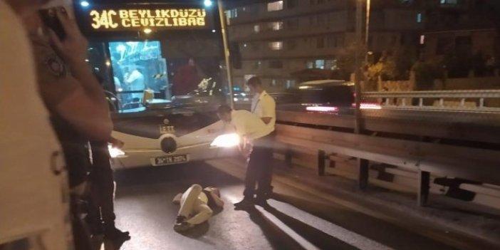 Bekçilerden kaçarken metrobüs yoluna uçtu