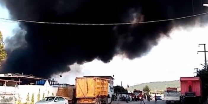 Bursa'da çöplük alanda yangın