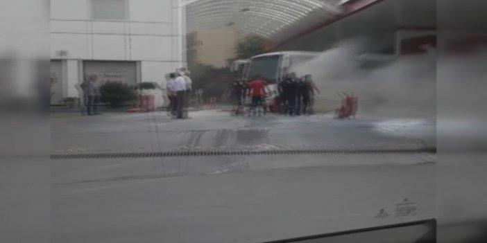 Akaryakıt istasyonunda faciaya ramak kaldı! İstanbul'da korku dolu anlar