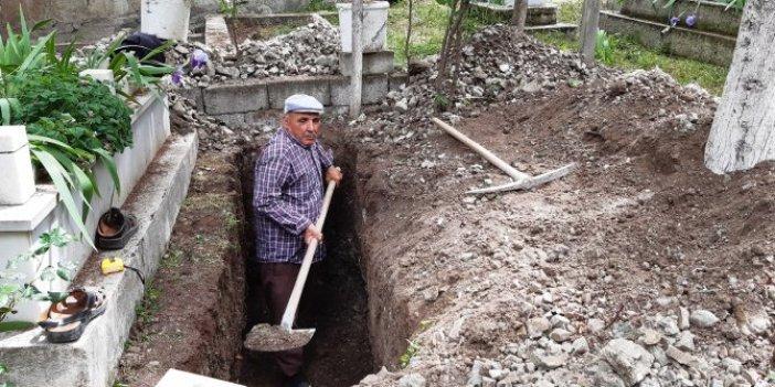 Ölmeden mezarını kazdı! Gerekçesi şaşkınlık yarattı
