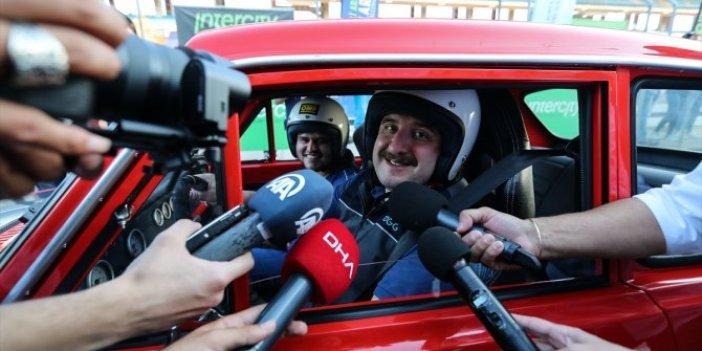 Formula 1 pistini deneyen Bakan Varank bir anda kontrolü kaybetti