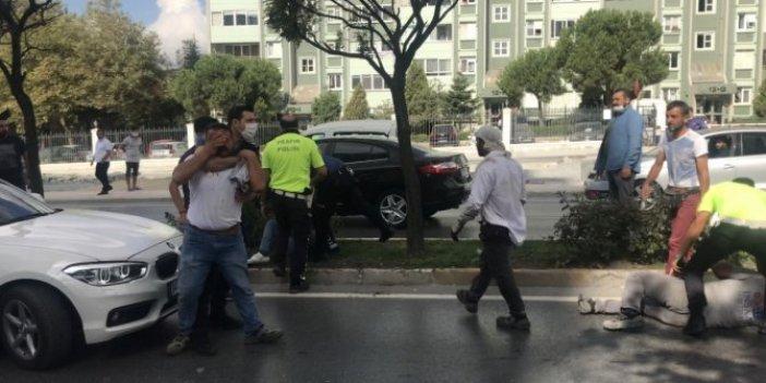 Trafik kazası sonrası taş ve keserli kavga!