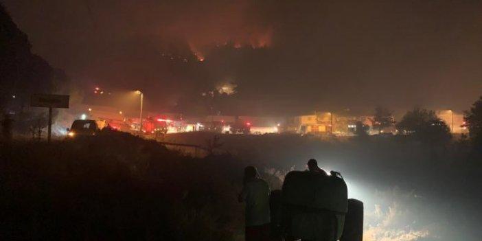 Soma'da orman yangını! Bir mahalle boşaltıldı