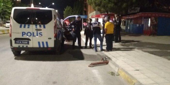 Taksi durağına beyzbol sopalı saldırı