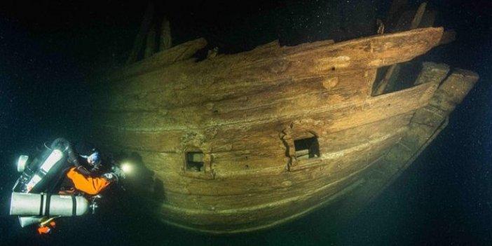 Sanki içinde yaşayanlar var gibiydi! 400 yıl önce batan gemi sapasağlam  bulundu