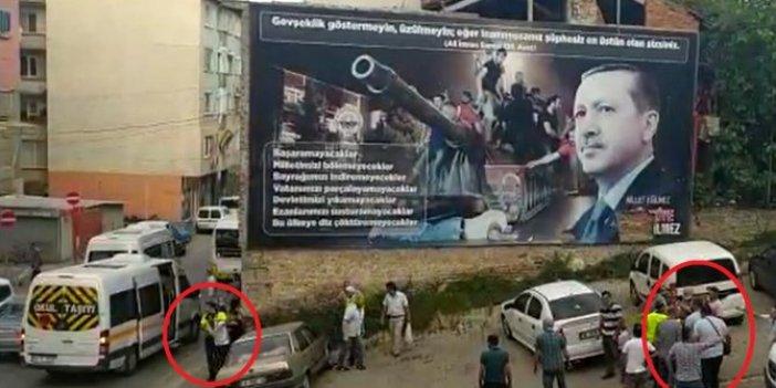 Cumhurbaşkanı'nın fotoğrafı önünde kavga ettiler