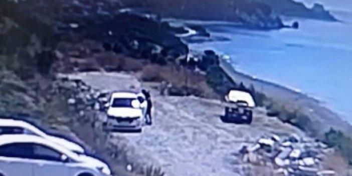 İzmir'de tekne motoru çaldılar! Çalma anı saniye saniye kamerada