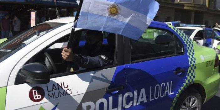 Arjantin'de polislerin 'zam' protestosu