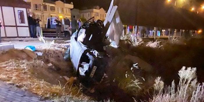Samsun'da otomobiller biri şarampole yuvarlandı!  2 ölü, 3 yaralı