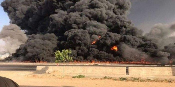 Tahran'da patlama! Tüp gaz dolum tesisinde tüpler patladı