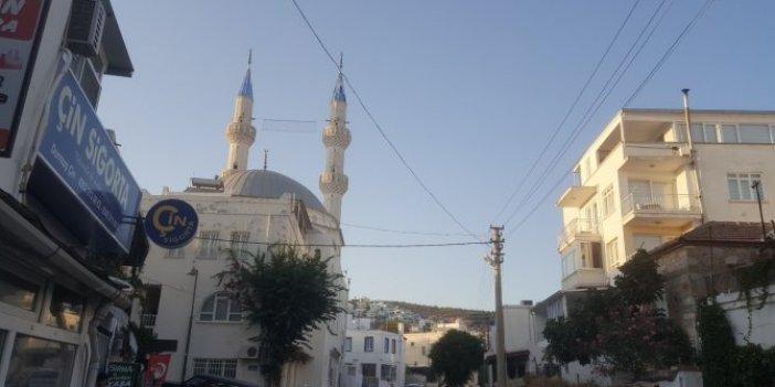 Bodrum'da caminin minaresinden intihara kalkıştı