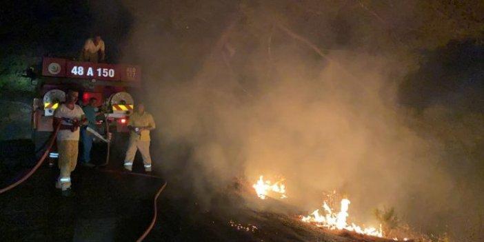 Muğla'da jenaratörden çıkan yangın ormana sıçradı