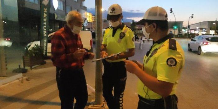 Maske cezası alan yaşlı adam pes dedirtti